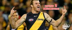 Round 2 SuperCoach Breakeven Table, 2015